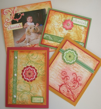 An example of a Motif and Swirl stamp used on the same card!