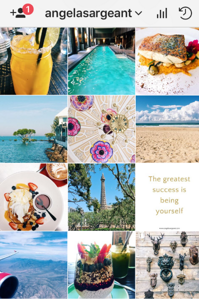How to create an Inspiring Instagram theme